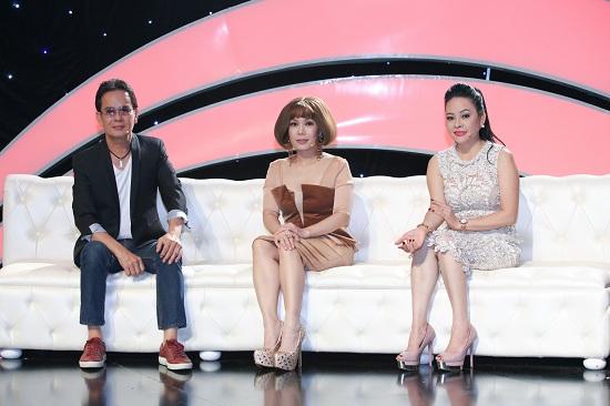 Ban bình luận - Đức Huy, Việt Hương và ca sĩ Đông Đào.