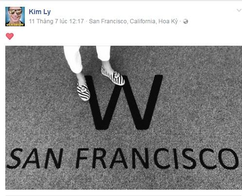 Cả Hà Hồ và Kim Lý đều khoe ảnh trên đường phố San Francisco vào cùng một ngày.