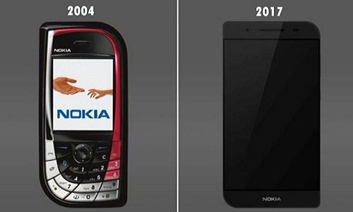 Nokia 7610 phiên bản 2017 có kích thước lớn hơn hẳn phiên bản gốc. Ảnh: Behance.