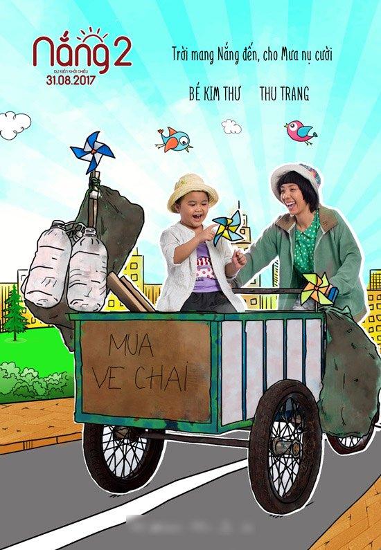 Thu Trang và bé Kim Thư tiếp tục đảm nhận nhân vật 2 mẹ con Mưa - Nắng.