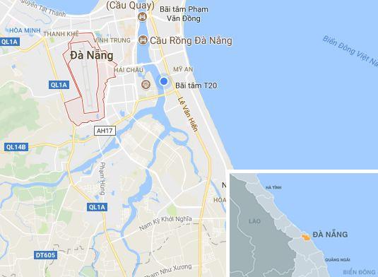 Phường Hòa Thuận Tây (Đà Nẵng), địa điểm xảy ra vụ cháy. Ảnh: Google Maps.