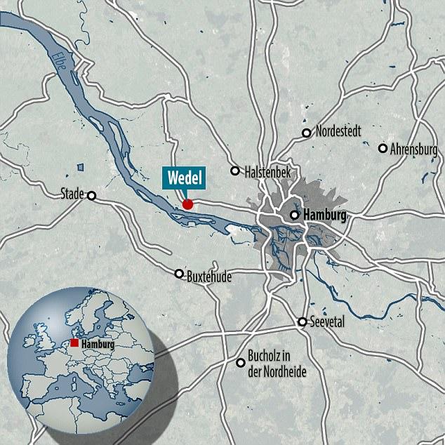 Sự việc diễn ra vào ngày 5/8 vừa qua tại bờ sông Elbe ở Wedel, gần Hamburg (Đức).