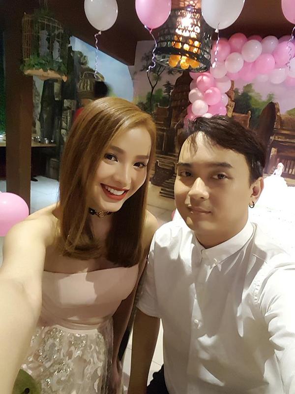 Phương Trinh Jolie và nhạc sĩ Võ Mạnh Hiền.