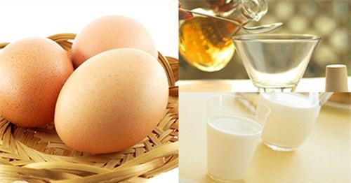 Ngâm trứng gà trong giấm và trộn với sữa tươi