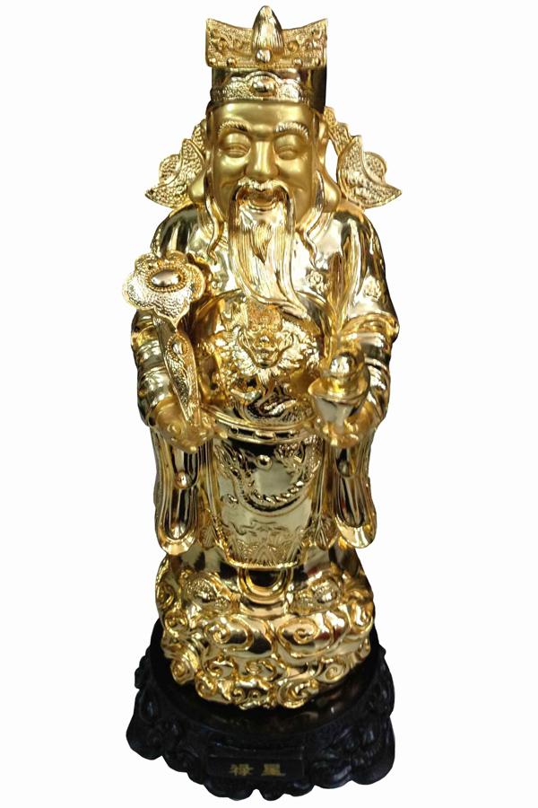 Ông Lộc làm quan Thừa tướng nhà Tấn, vàng bạc, châu báu trong nhà chất cao như núi. Ông thường mặc áo màu xanh lá cây vì lộc phát âm gần với chữ lục. Vì vậy, ông Lộc tượng trưng cho sự giàu có, thịnh vượng.