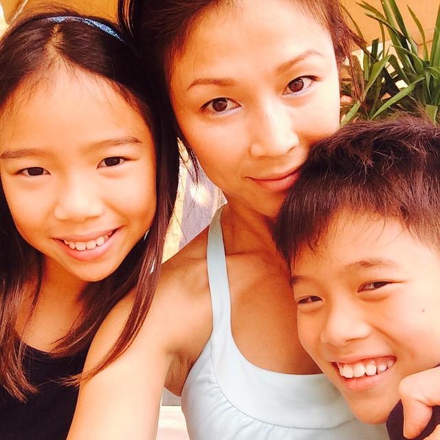 Li-Lin chia sẻ những khoảnh khắc hạnh phúc bên con gái và con trai.