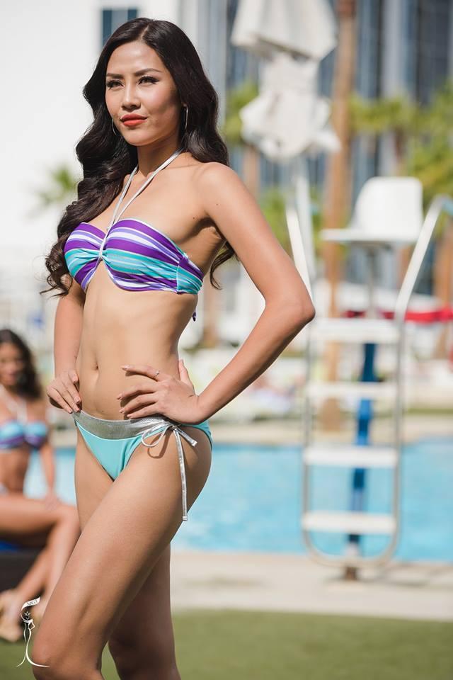 Phần trình diễn áo tắm của Á hậu Nguyễn Thị Loan tại Hoa hậu Hòa Bình quốc tế được khán giả nước nhà đánh giá cao và giành cho cô nhiều sự ủng hộ.