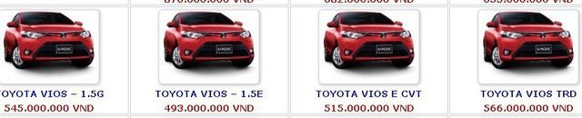 Xe hot Toyota Vios về mốc rẻ nhất từ trước đến nay.