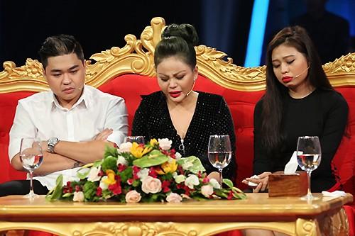 Ba mẹ con Lê Giang trong chương trình Sau ánh hào quang.