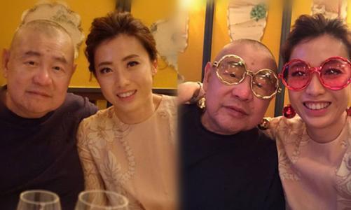 Lưu Loan Hùng và người vợ hiện tại.