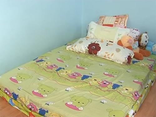 Phòng ngủ giản đơn của 3 cô con gái