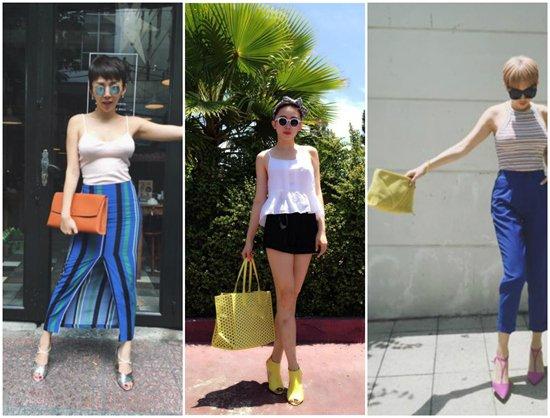 Nữ ca sĩ sở hữu rất nhiều mẫu túi của thương hiệu bình dân Zara.