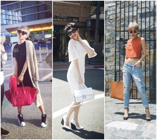 Ngoài ra, rất nhiều nhãn hàng khác cũng có mặt trong bộ sưu tập của Tóc Tiên: Philip Lim, Prada, Shy Girl...