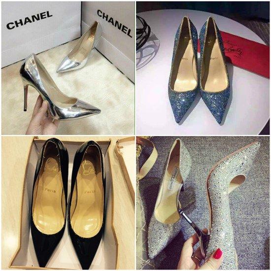 """Một trong những lần khoe """"chiến tích"""" mua sắm của Lâm Khánh Chi khiến dân mạng sốc. Cô sắm hơn chục đôi giày với đủ thương hiệu: Christian Louboutin, Jimmy Choo, Chanel…"""