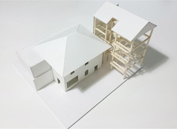Hình vẽ 3D của căn nhà cũ.
