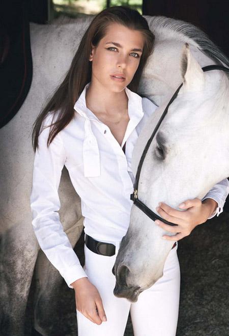 Môn thể thao đua ngựa là thế mạnh của nàng công chúa.