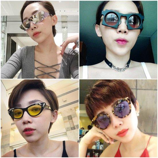Vô vàn những mẫu kính thuộc thương hiệu Dior và Miu Miu.