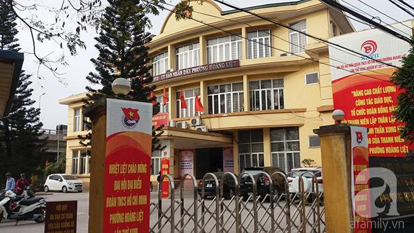 UBND phường Hoành Liệt nơi tiếp nhận và bàn giao cháu H sau lần đi lạc vừa qua