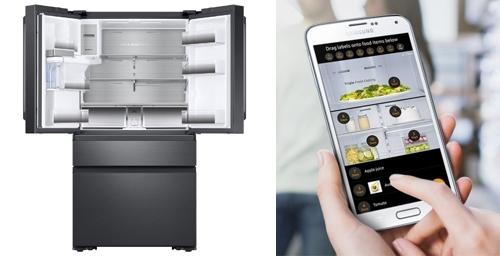 Bên trong tủ lạnh có camera để theo dõi lượng thức ăn còn lại.