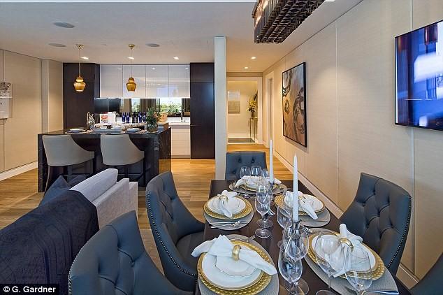 Toàn bộ nội thất đều được đặt riêng cho dự án và không thể mua được ngoài thị trường.