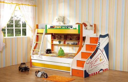 Đặt giường tầng đúng cách trong phòng ngủ của trẻ sẽ có nhiều điểm lợi trong phong thủy. (Ảnh minh họa)