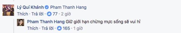 Thanh Hằng chia sẻ ý kiến sau những tiết lộ của NTK Lý Quí Khánh.