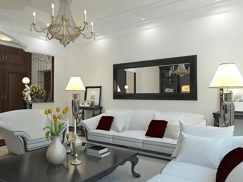 Đồ nội thất trắng có thể phản chiếu ánh sáng tự nhiên nhiều nhất vào phòng.
