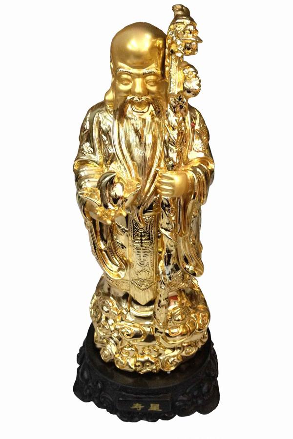 Ông Thọ làm Thừa tướng đời Hán, sống thọ đến 125 tuổi. Do đó, ông tượng trưng cho sự trường thọ với hình ảnh là một ông già râu tóc bạc trắng, trán hói và dô cao, tay cầm quả đào hoặc gậy chống.