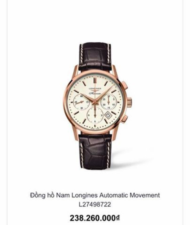 Chiếc đồng hồ trị giá hơn 200 triệu đồng bị hai nghi phạm người nước ngoài lấy trộm