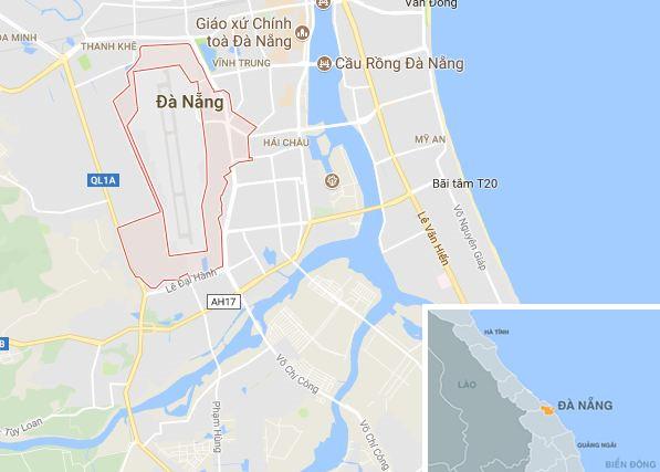 Phường Hòa Thuận Tây (TP Đà Nẵng), địa điểm xảy ra vụ việc. Ảnh: Google Maps.
