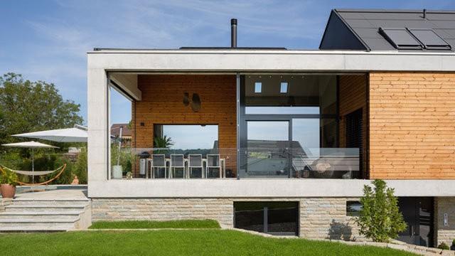 Ngôi nhà cấp 4 này là tổ ấm của một gia đình trẻ ở Seltisberg, Thụy Sĩ.