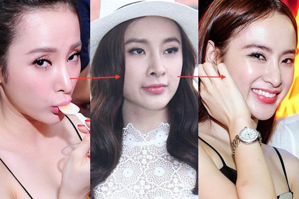 Phần được chỉnh sửa nhiều nhất trên gương mặt của Angela Phương Trinh chính là chiếc mũi, và đây cũng là phần bấp bênh nhất để giúp cô nàng có được nhan sắc hoàn hảo như hiện tại.