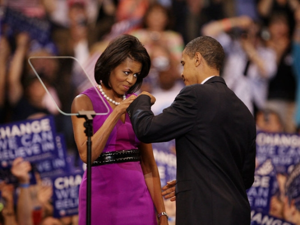 Hai vợ chồng tại một sự kiện năm 2008.
