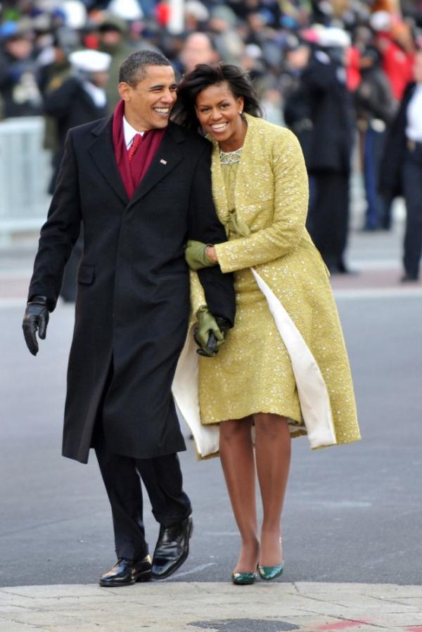 Hai ông bà tại buổi lễ diễu hành nhậm chức ở Washington DC, năm 2009.