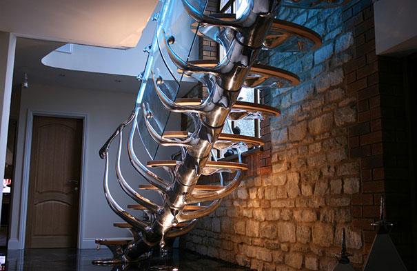 Những thiết kế cầu thang mang diện mạo của những bộ xương tưởng chừng trông rất đáng sợ này sẽ mang lại cho căn nhà của bạn diện mạo mới mẻ và độc nhất quả đất đấy!