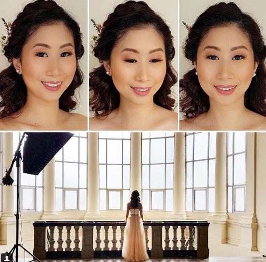 Trước khi tổ chức hôn lễ tại Manila, vợ chồng Stephanie đã chụp ảnh cưới ở TP HCM. Trên trang cá nhân, chị chồng Hà Tăng có chia sẻ một vài khoảnh khắc ngọt ngào của cô và ông xã để khoe với bạn bè.