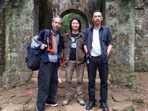 NSƯT Trung Anh và diễn viên Chu Hùng, Danh Thái trong Người phán xử.