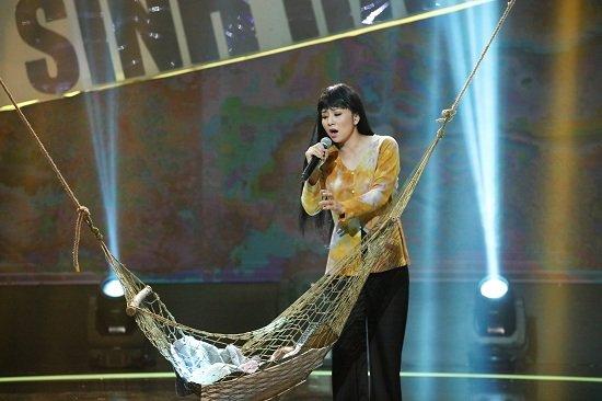Thúy Hiền được HLV nhí Bảo Ngọc lựa chọn bài hát ru đặc trưng của người dân Nam Bộ.