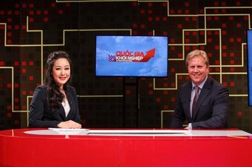 Hoa hậu thế giới người Việt 2007 hiện đang đảm nhận vai trò MC cho chương trình Quốc gia khởi nghiệp.