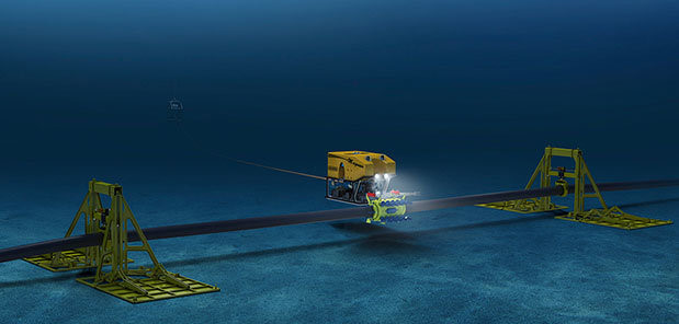 Cáp nằm sâu dưới đáy đại dương cần có những thiết bị chuyên dụng mới có thể kiểm tra thay thế được. Ảnh: Submarinenews.