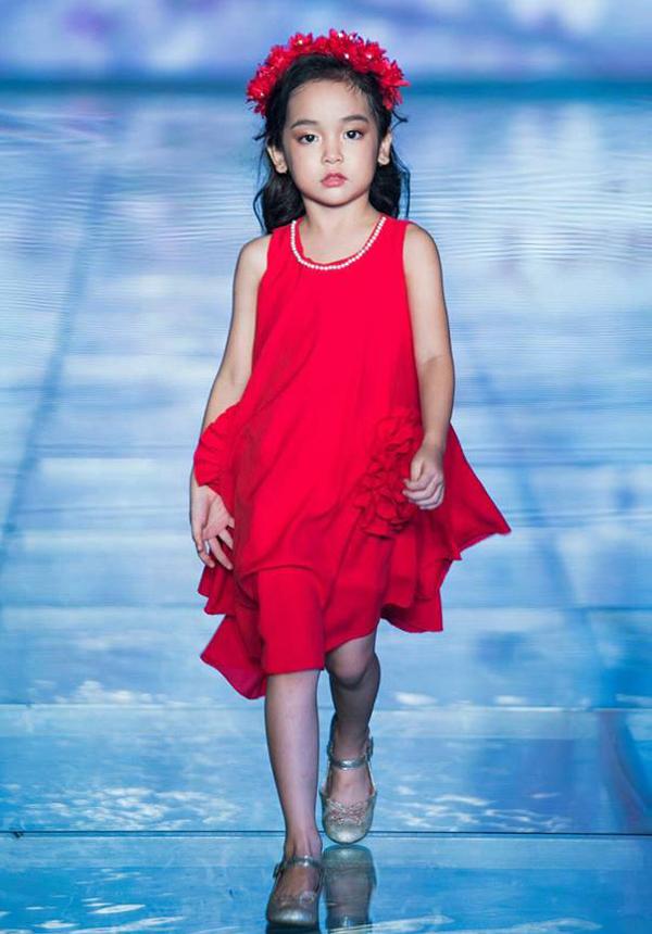 Trước khi bén duyên với điện ảnh, Chu Diệp Anh được nhiều người biết đến với vai trò người mẫu nhí.