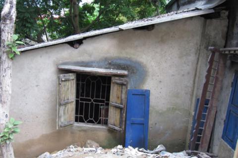 Toàn cảnh căn nhà của bà Lành - nơi Tạ Quang Chiến đột nhập gây án