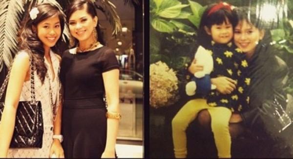 Thảo Tiên và mẹ khi còn nhỏ và thời tuổi teen.