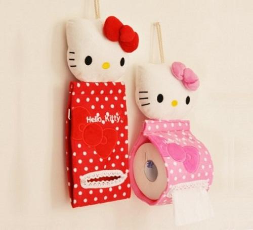 Làm mới nhà vệ sinh bằng hai em Hello Kity đáng yêu này nhé!