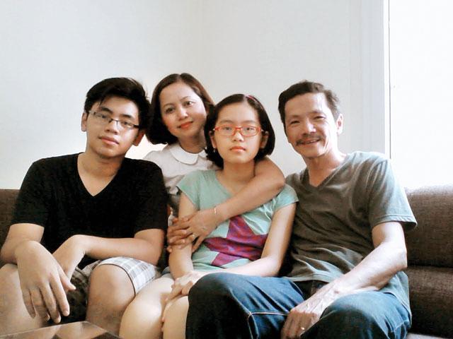 Gia đình nhỏ hạnh phúc của NSƯT Trung Anh.
