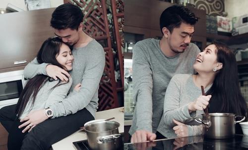 Hình ảnh ngọt ngào của vợ chồng ca nương Kiều Anh.