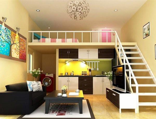 Đây quả thực là một thiết kế nhà có gác lửng hoàn hảo cho một gia đình từ 2-3 người. Tuy là nhà cấp 4 nhưng đầy đủ phòng khách, phòng bếp, phòng ngủ và sinh hoạt, nội thất được bố trí vô cùng ngăn nắp.