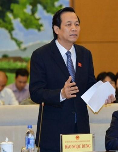 Bộ trưởng Bộ Lao động- Thương binh và Xã hội Đào Ngọc Dung.