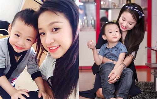 Thanh Vân Hugo và con trai.