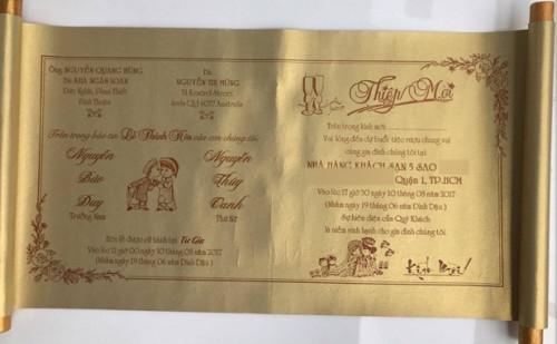 Ảnh cưới và thiệp mời của Bảo Duy và người tình mới công khai để mọi người chia sẻ niềm vui.